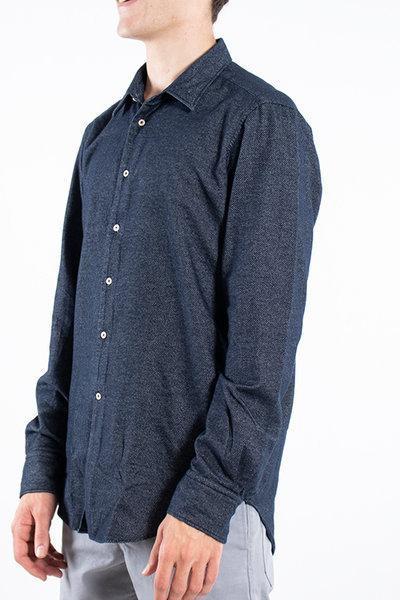 7d 7d Overhemd / Fourty-Four Flannel / Navy