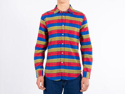 Portuguese Flannel Portuguese Flannel Overhemd / Nebraska Stripe / Multi rood