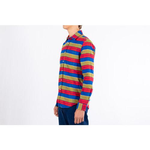 Portuguese Flannel Portuguese Flannel Shirt / Nebraska Stripe / Multi Red