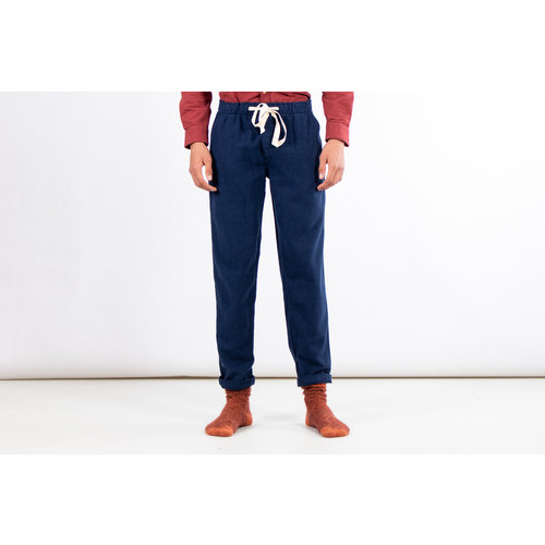 Portuguese Flannel Portuguese Flannel Broek / Pajama Trousers / Blauw