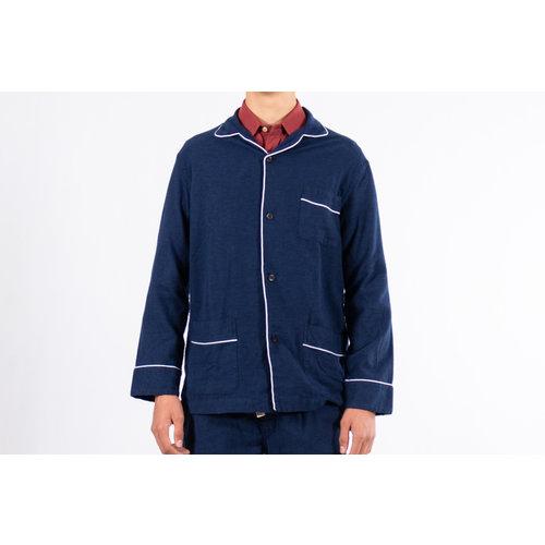 Portuguese Flannel Portuguese Flannel Shirt / Pajama Shirt / Blauw