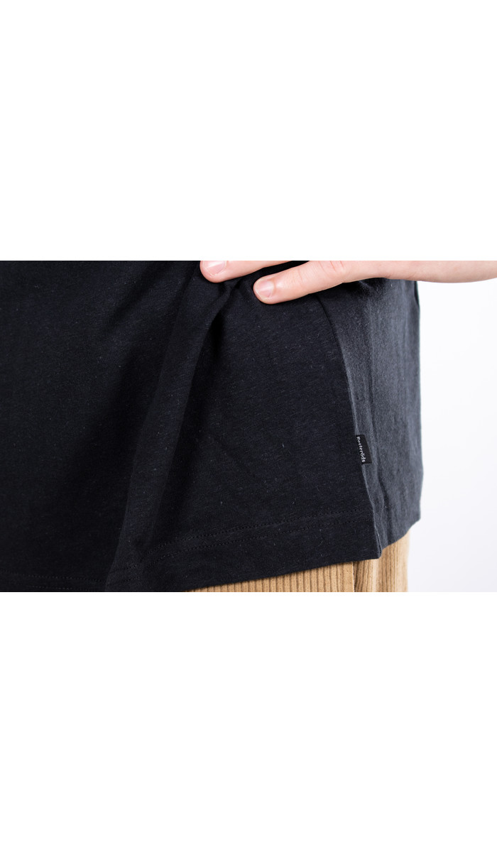 Resterods T-shirt / Mid Sleeve Solid / Zwart
