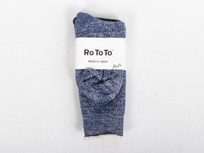 RoToTo RoToTo Sok / Double Face / Blauw