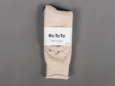 RoToTo RoToTo Sok / Double Face / Ecru