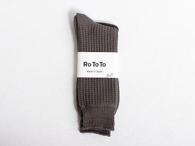 RoToTo RoToTo Sok / Cotton Waffle / Grijs