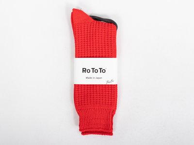 RoToTo RoToTo Sok / Cotton Waffle / Rood