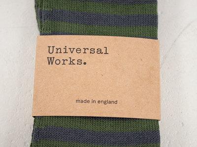 Universal Works Universal Works Sock / Stripe Sock / Grey