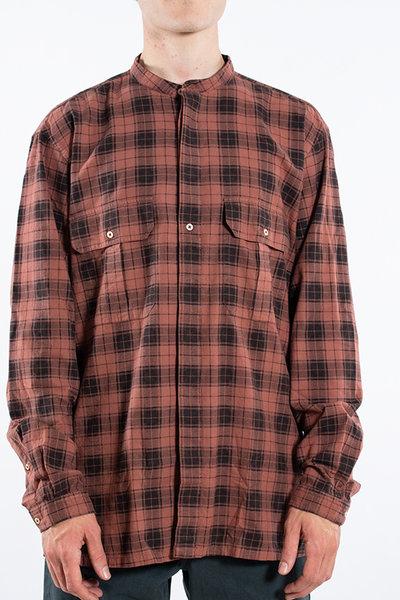 7d 7d Shirt / Fourty-Seven Check / Copper