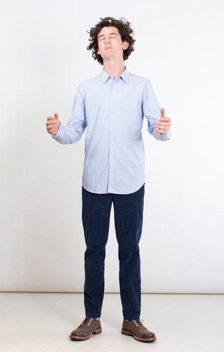 7d 7d Overhemd / Fourty-Four Retro Stripe / Blauw