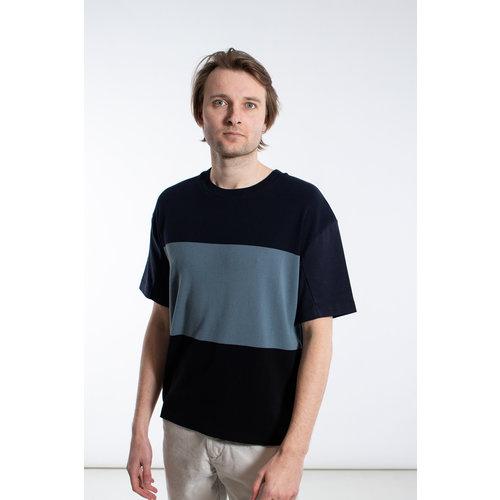 Roberto Collina Roberto Collina T-shirt / RC54121 / Multi Blauw