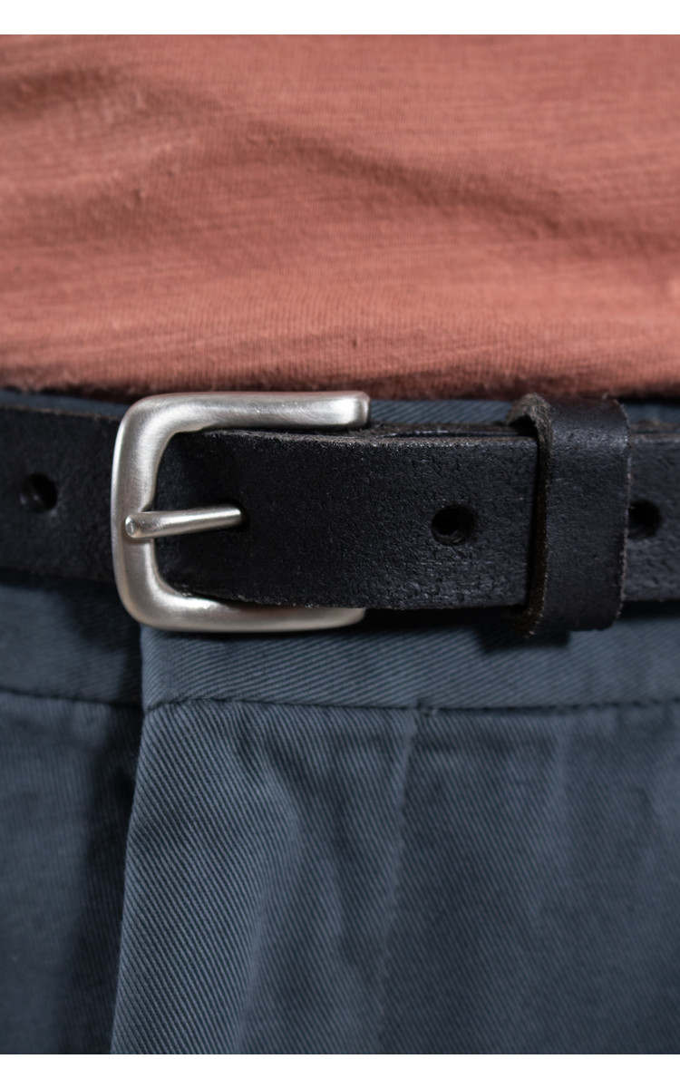 Anglo Riem / Klassieke buckle / Zwart