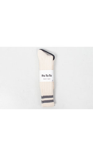 RoToTo RoToTo Sock / Low Raw / Ecru - Grey