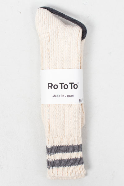 RoToTo RoToTo Sok / Low Raw / Ecru - Grijs