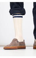 RoToTo Sock / Low Raw / Ecru - Navy