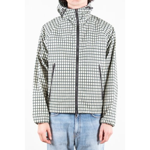 Lamler Lamler Coat / Atlantic Shell Mini Grid / White
