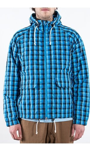 Universal Works Universal Works Jack / Hooded windbreaker / Blauw