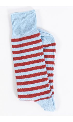 Universal Works Universal Works Sok / Stripe Sock / Blauw