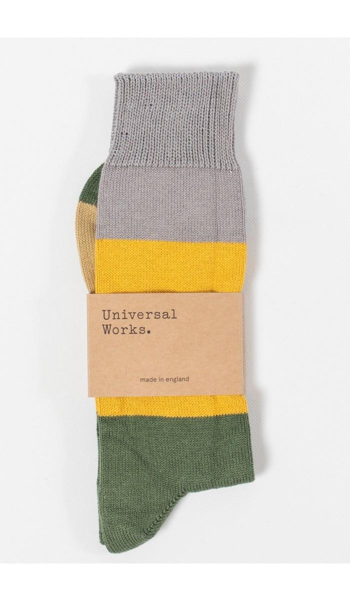 Universal Works Universal Works Sock / Bold Stripe Sock / Green