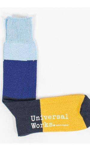 Universal Works Universal Works Sock / Bold Stripe Sock / Blue