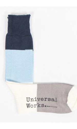 Universal Works Universal Works Sock / Bold Stripe Sock / White