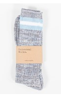 Universal Works Sok / Everyday Stripe Sock / Blauw