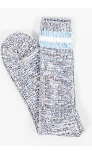 Universal Works Universal Works Sock / Everyday Stripe Sock / Blue