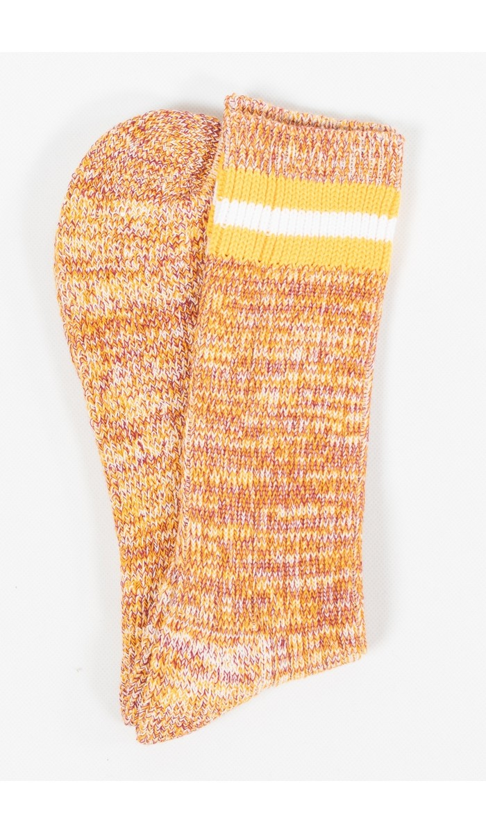 Universal Works Universal Works Sock / Everyday Stripe Sock / Yellow