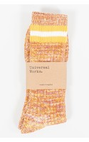 Universal Works Sok / Everyday Stripe Sock / Geel