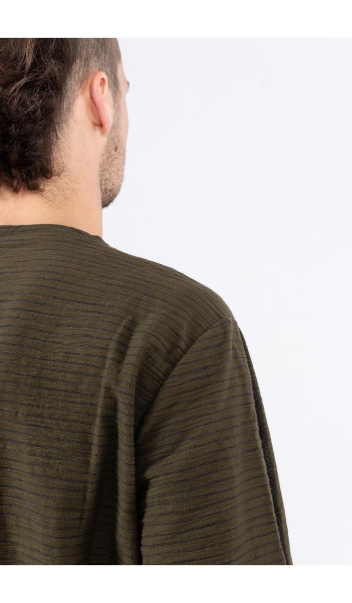 Transit Transit T-Shirt / CFUTRK4390 / Donkergroen