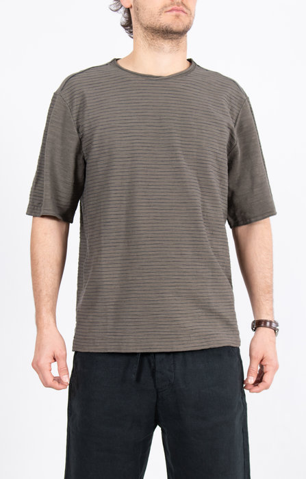 Transit Transit T-Shirt / CFUTRK4390 / Grijsgroen