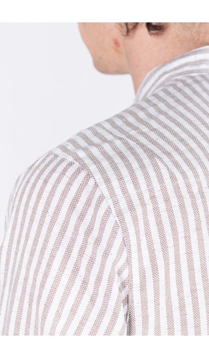 Delikatessen Delikatessen Shirt / Mao Collar Shirt / Beige
