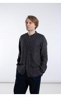 Delikatessen Shirt / Mao Collar Shirt / Black