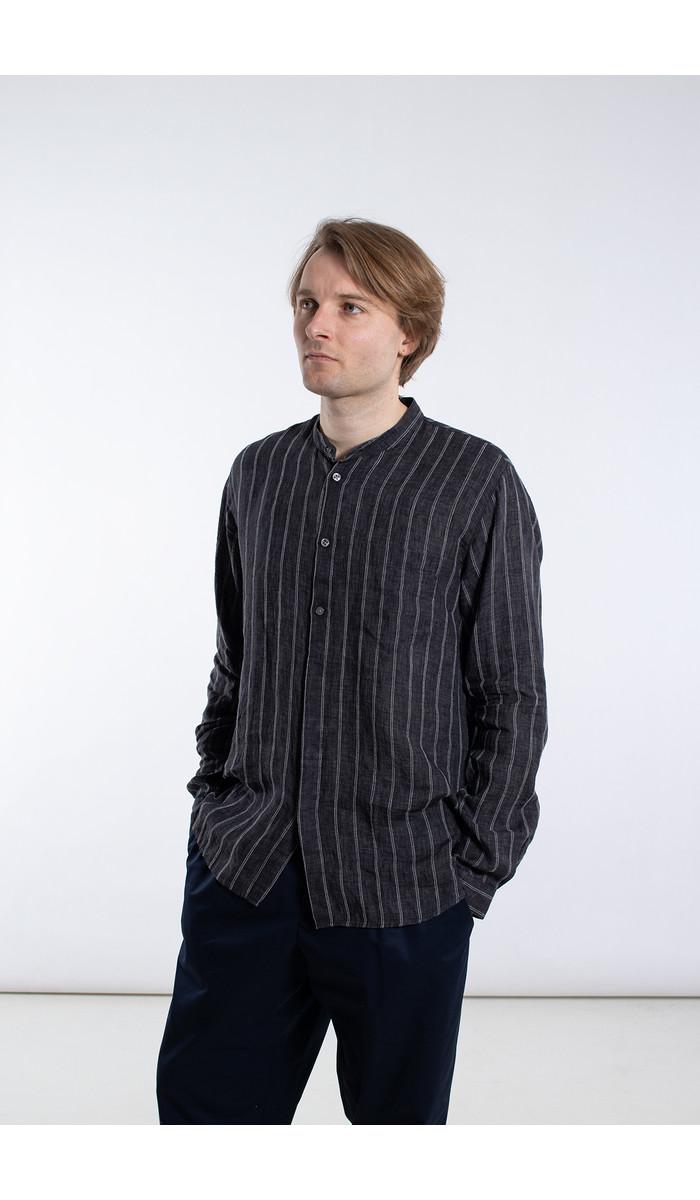 Delikatessen Delikatessen Shirt / Mao Collar Shirt / Black