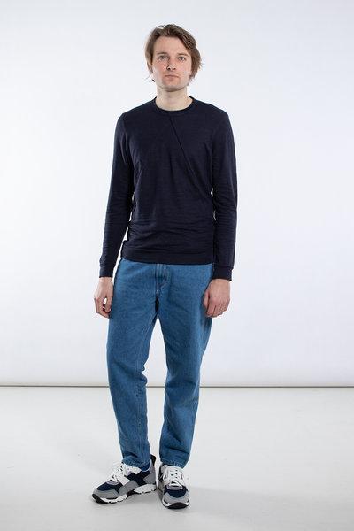 Homecore Homecore T-Shirt / Linen Sweat LS / Navy