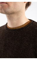 Inis Meán Sweater / Boiled Alpaca / Dark brown