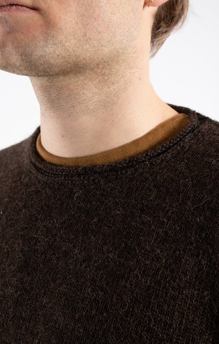 Inis Meain Inis Meán Sweater / Boiled Alpaca / Dark brown