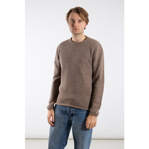 Inis Meain Inis Meán Sweater / Boiled Alpaca / Grey brown
