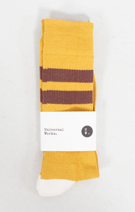 Universal Works Universal Works Sok / Sport Sock / Geel Bruin