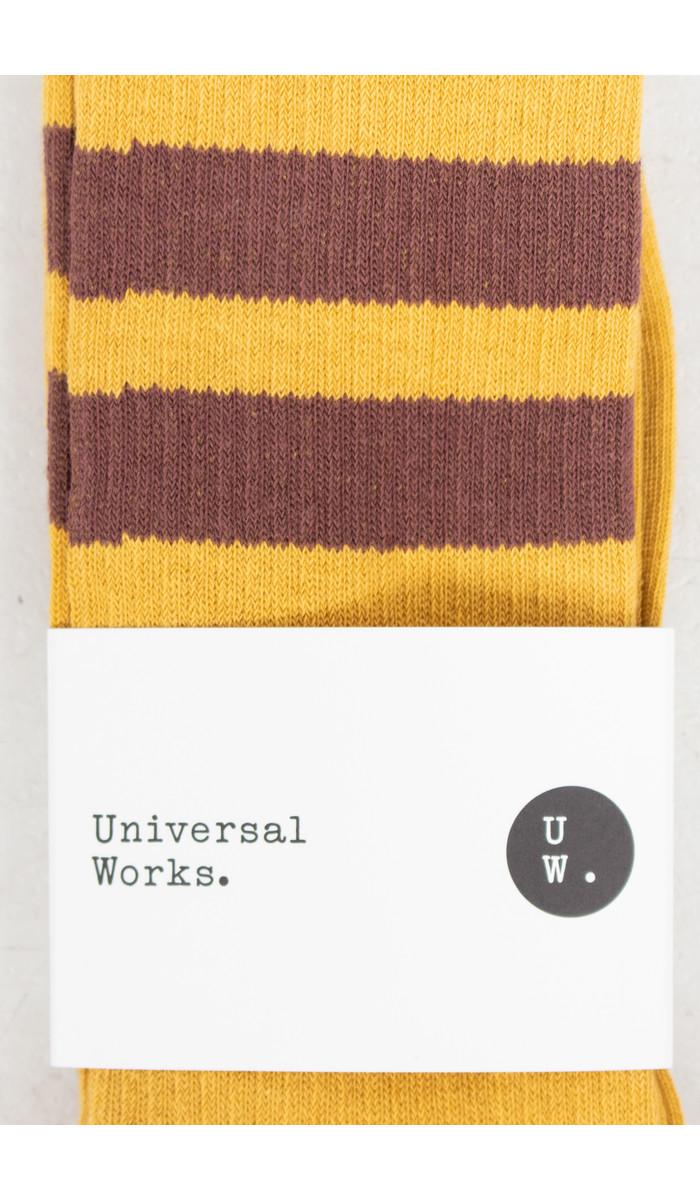 Universal Works Universal Works Socks / Sport Sock / Yellow Brown