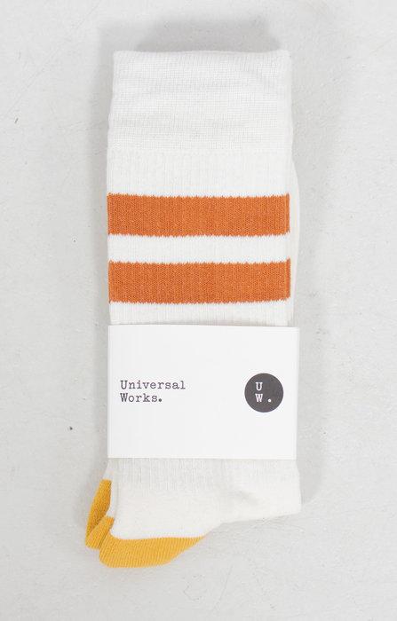 Universal Works Universal Works Sok / Sport Sock / Ecru Oranje