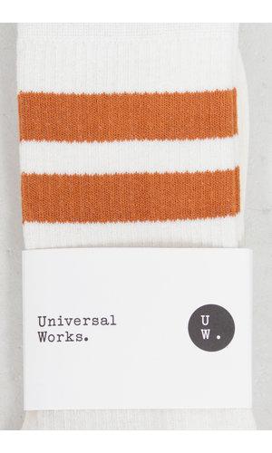 Universal Works Universal Works Socks / Sport Sock / Ecru Orange