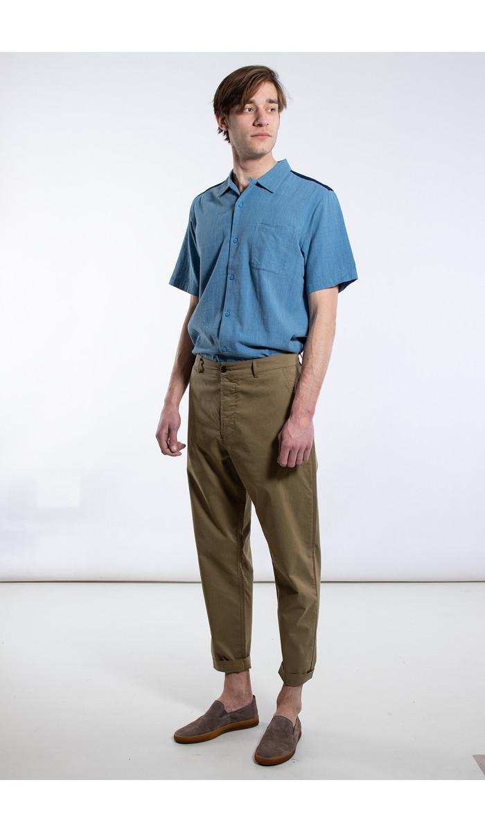 Universal Works Universal Works Overhemd / Road Shirt / Blauw