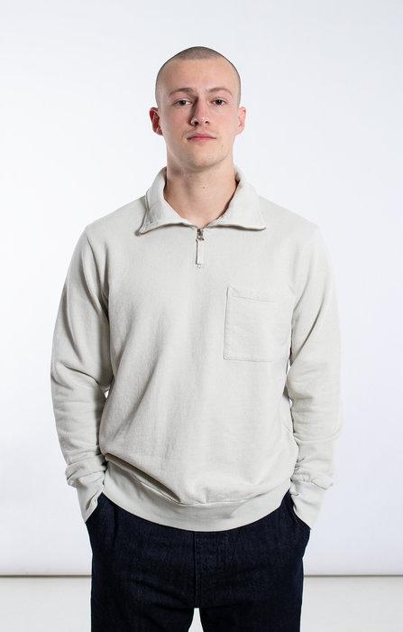 Universal Works Universal Works Sweater / Half Zip Sweat / Ecru
