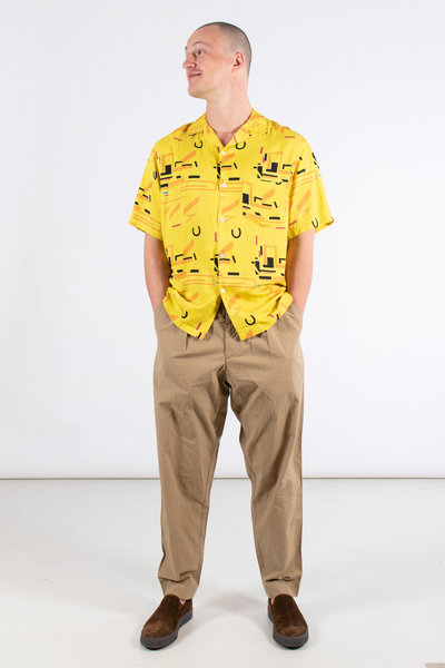 Portuguese Flannel Portuguese Flannel Shirt / Geometry Two / Yellow