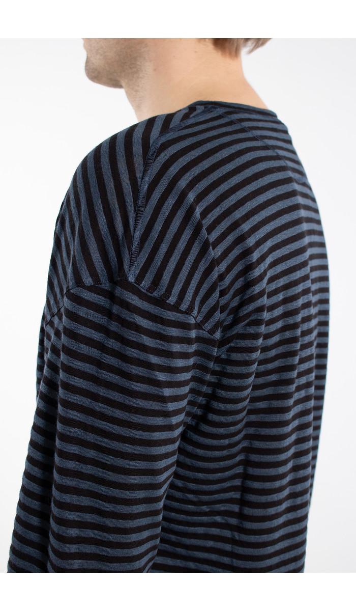 Roberto Collina Roberto Collina T-Shirt / RC68001 / Blauw Zwart