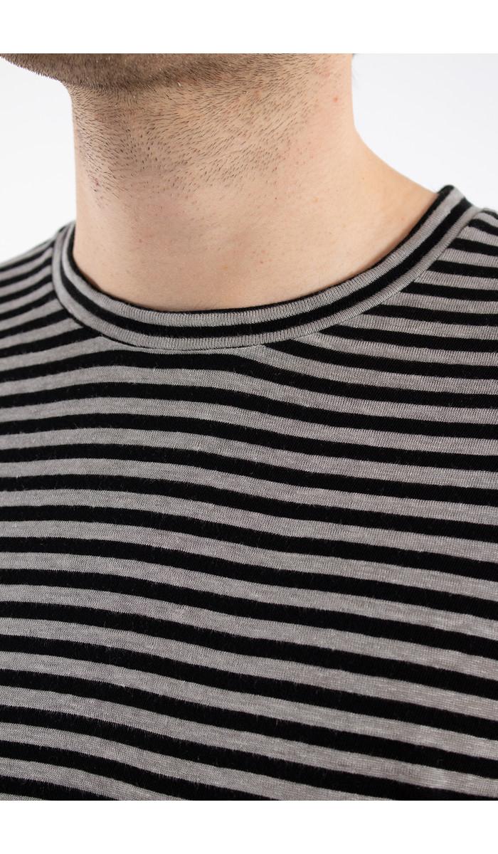 Roberto Collina Roberto Collina T-shirt / RC68001 / Grijs Zwart