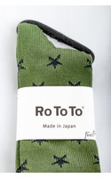 RoToTo Sock / Star Socks / Green