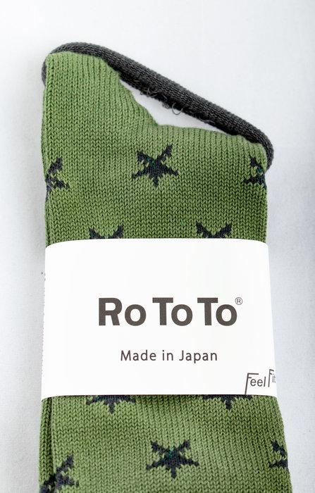RoToTo RoToTo Sock / Star Socks / Green