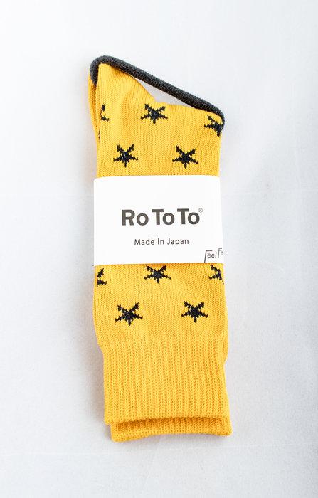 RoToTo RoToTo Sok / Star Socks / Geel