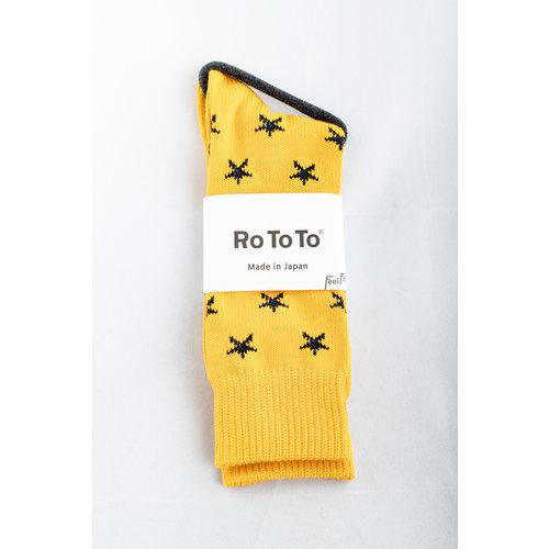 RoToTo RoToTo Sock / Star Socks / Yellow
